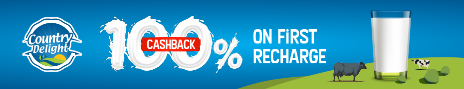 Country Delight 100% cashback offer